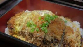 Japanische Küche Katsudon stock video footage