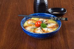 Japanische Küche unagi oder Aal auf dem Hintergrund Stockbild