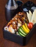 Japanische Küche unagi oder Aal auf dem Hintergrund Stockfotos