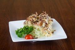 Japanische Küche unagi oder Aal auf dem Hintergrund Stockfotografie