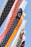 Japanische Karpfenausläuferdekoration Stockfotografie