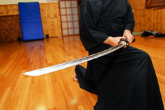 Japanische katana Klinge Stockbild
