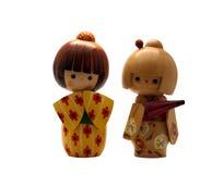 Japanische Kokeshi Puppen Stockbild