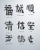 Japanische Konzepte b lizenzfreie abbildung