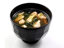 Japanische Lachssuppe Lizenzfreie Stockfotos