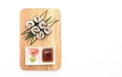 japanische Lebensmittelart Aal maki Sushi Lizenzfreie Stockbilder