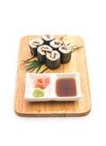 japanische Lebensmittelart Aal maki Sushi Lizenzfreie Stockfotos