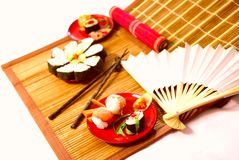Japanische Mahlzeit stockfotos