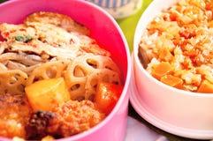 Japanische Mahlzeitkästen, obandon Stockfoto