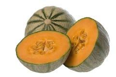 Japanische Melonen getrennt stockfotos