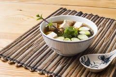 Japanische Misosuppe mit Tofu und wakame Lizenzfreies Stockbild