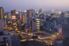 Japanische moderne Stadt Stockbild