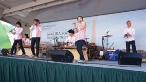 Japanische Musik-Band stock footage