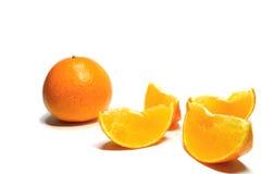Japanische Orangen der hohen Qualität im Weiß Stockfotografie