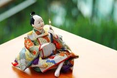 Japanische Puppe, männliche japanische traditionelle Puppen, asiatische Puppen Stockfotos