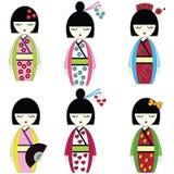 Japanische Puppen lizenzfreie abbildung