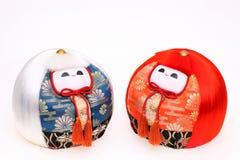 Japanische Puppen für Festival Lizenzfreie Stockfotos