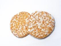 Japanische Reis-Cracker, Sembei Lizenzfreie Stockbilder