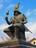 Japanische Samurai-Statue Lizenzfreies Stockbild