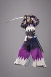 Japanische Samurais mit katana Klinge Stockfoto