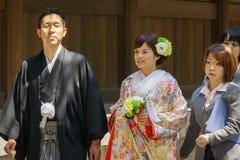 Japanische shintoistische Hochzeitszeremonie Lizenzfreie Stockfotos