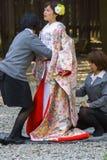 Japanische shintoistische Hochzeitszeremonie Lizenzfreies Stockfoto