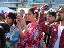 Japanische Straßenfest-Fotografie Lizenzfreie Stockfotografie