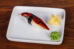 Japanische Sushi mit Aal Stockfotografie