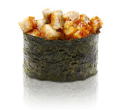 Japanische Sushi mit Aalfleisch Stockfotos