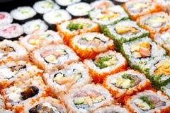 Japanische Sushirollen. Stockfotografie
