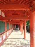Japanische Tempelgalerie Stockfotos