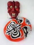 Japanische Theatermaske der traditionellen Weinlese Stockbilder