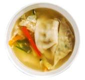Japanische traditionelle Suppe mit Mehlklößen Lizenzfreie Stockbilder