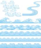 Japanische traditionelle wavess Stockfotos