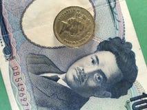 Japanische Yen gegen Pfund Stockbild