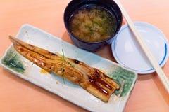 Japanischer Aal gebraten mit Sojasoßen Lizenzfreies Stockfoto