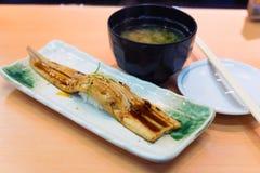 Japanischer Aal gebraten mit Sojasoßen Stockfotografie