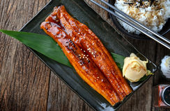 Japanischer Aal gegrillt oder Unagi Ibaraki Stockfotografie