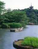Japanischer alter Garten Stockbild