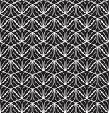 Japanischer dekorativer Vektor-Hintergrund Art Deco Floral Seamless Pattern Geometrische dekorative Beschaffenheit lizenzfreie abbildung