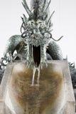 Japanischer Drachebrunnen Lizenzfreies Stockfoto