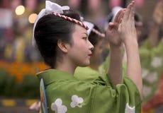 Japanischer Festival-Tänzer Stockfotos