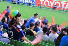 Japanischer Fußballanhänger Stockfotos