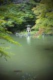 Japanischer Garten. Lizenzfreies Stockfoto