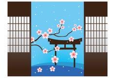 Japanischer Garten vektor abbildung