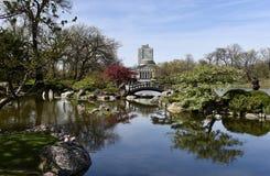 Japanischer Garten bei Jackson Park lizenzfreie stockfotos