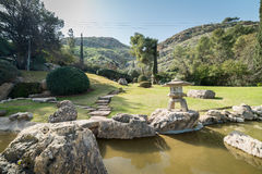 Japanischer Garten an den Kibbuzim Hephzibah Stockfotos