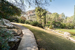 Japanischer Garten an den Kibbuzim Hephzibah Lizenzfreie Stockfotos