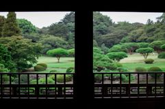 Japanischer Garten Fall ist sehr bunte Jahreszeit von Japan Herbstsaison von Kyoto ist sehr das gute Timing, zum von Japan zu seh lizenzfreies stockbild