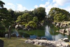 Japanischer Garten im Nijo-Schloss in Kyoto, Japan stockfotos
